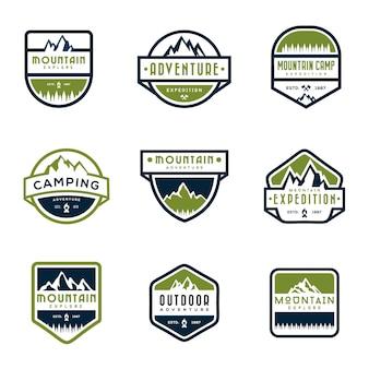 Set di distintivi di montagna