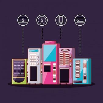 Set di distributori automatici di elettronica
