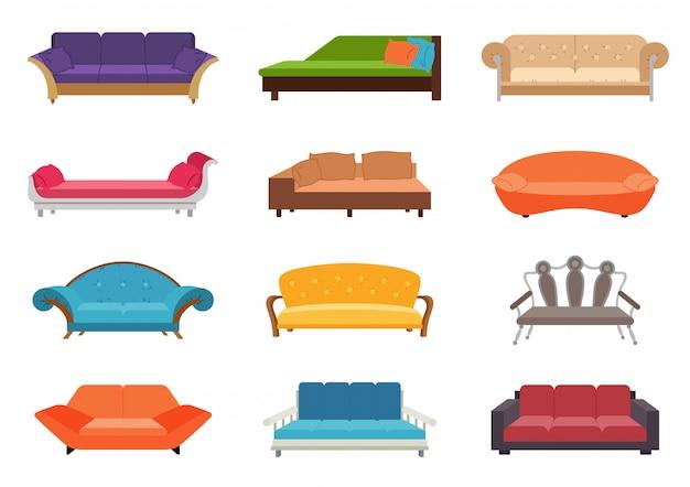 Set di divani colorati