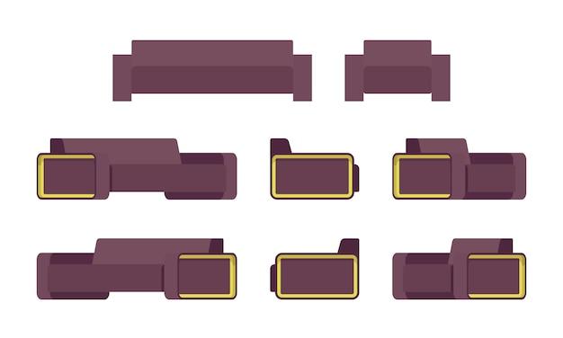 Set di divani e braccioli moderni