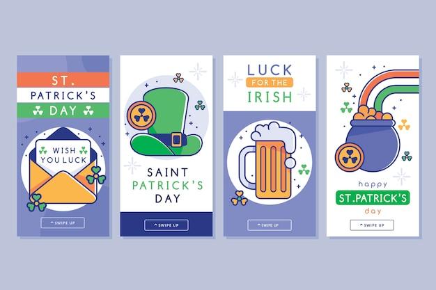 Set di diverse colorate st. storie del giorno di patrick