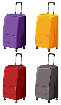 Set di diversi bagagli