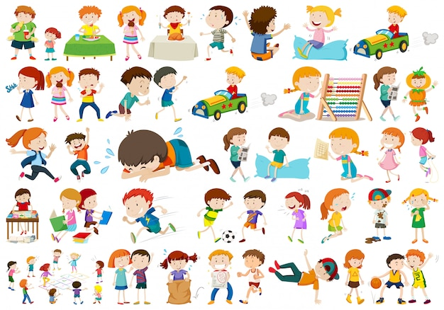 Set di diversi bambini