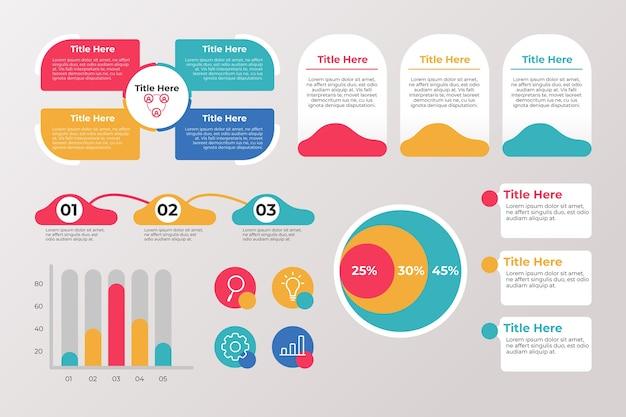 Set di diversi elementi di infografica