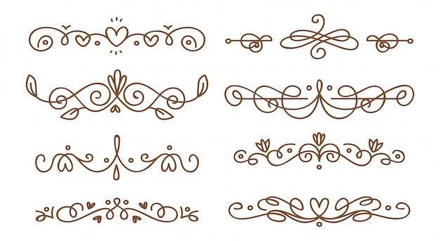 Set di divisori swirly decorativi