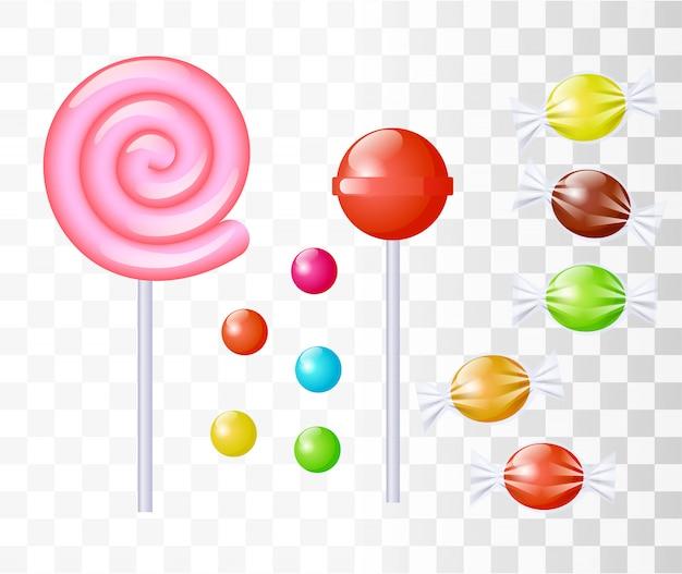 Set di dolci caramelle