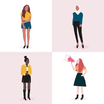Set di donne forti corpo pieno