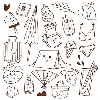 Set di doodle estivo