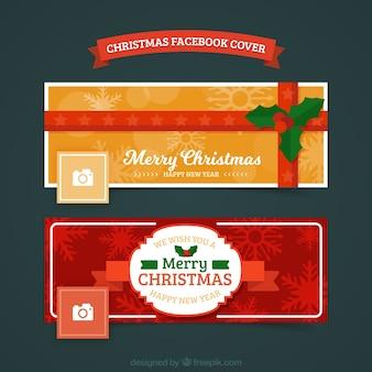 Set di due copertine di natale di facebook