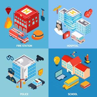 Set di edifici comunali