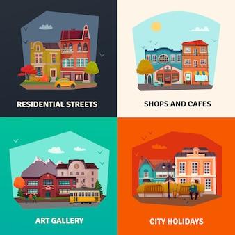 Set di edifici della città