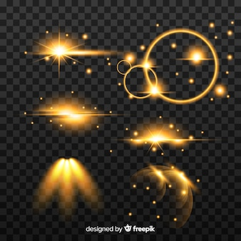 Set di effetti di luce splendente