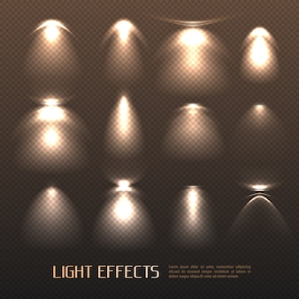 Set di effetti di luce