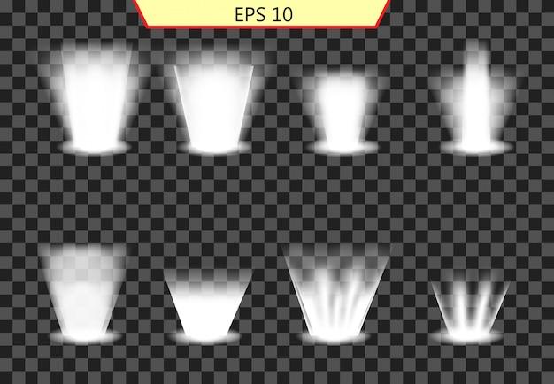 Set di effetti luminosi, collezione di illuminazione
