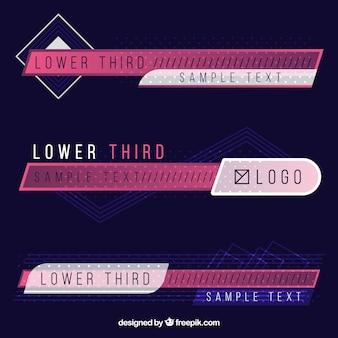 Set di eleganti terzi inferiori