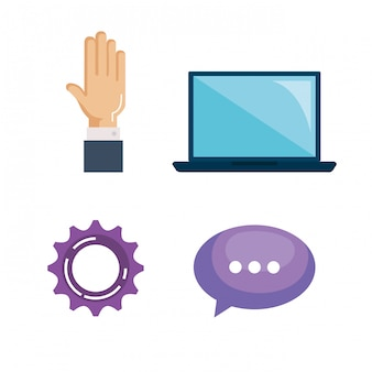 Set di elementi aziendali