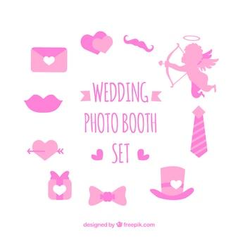 Set di elementi d'amore per photo booth