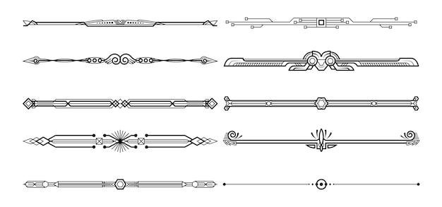 Set di elementi decorativi.