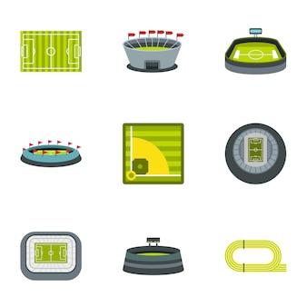 Set di elementi del campionato, stile piatto