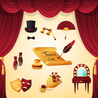 Set di elementi del teatro