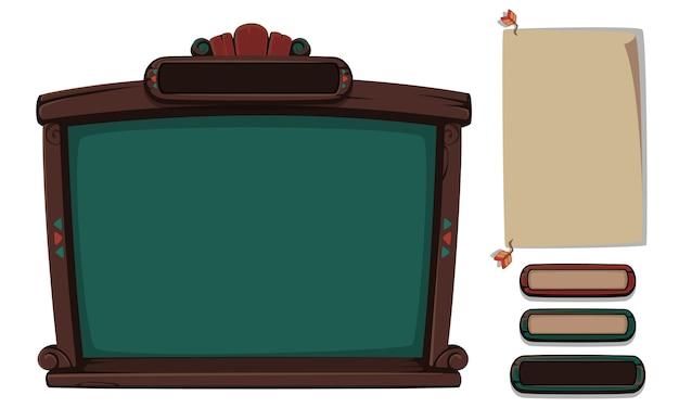 Set di elementi dell'interfaccia utente per giochi e app 2d-parte 8