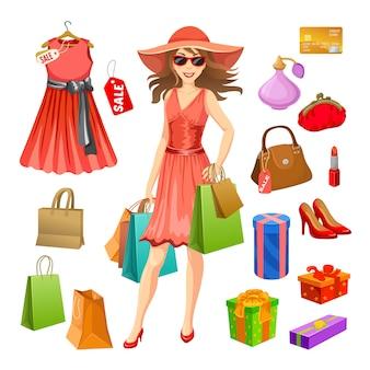 Set di elementi dello shopping