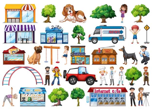 Set di elementi di città