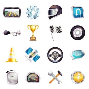 Set di elementi di corse automobilistiche