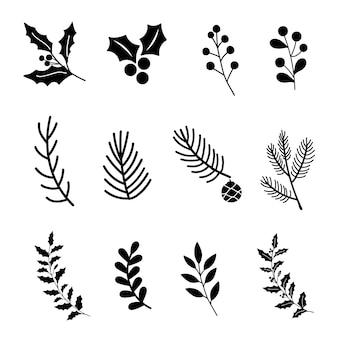 Set di elementi di design di natale