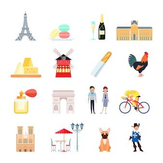 Set di elementi di francia