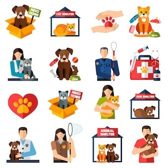 Set di elementi di rifugio per animali