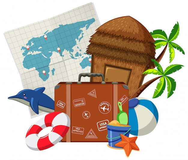 Set di elementi di viaggio
