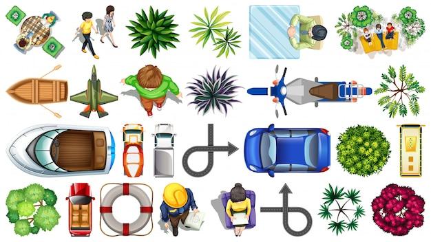 Set di elementi di visualizzazione superiore