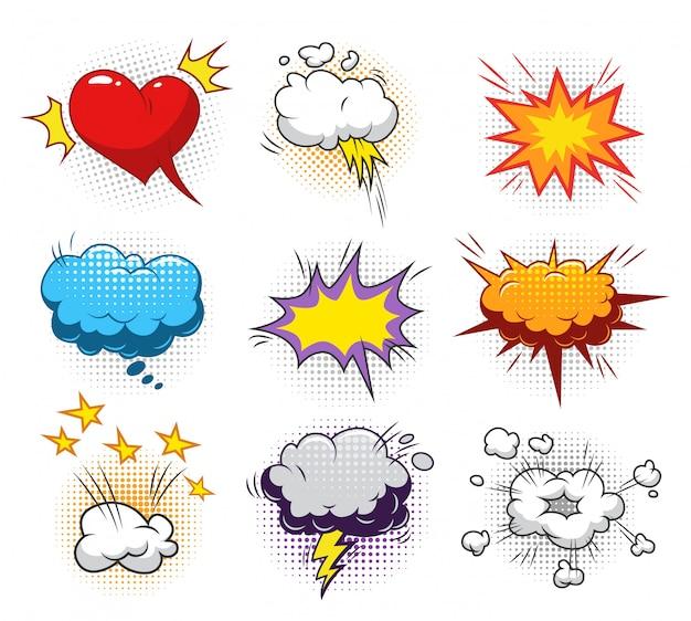 Set di elementi dinamici comici