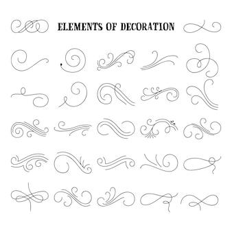 Set di elementi fioriti disegnati a mano