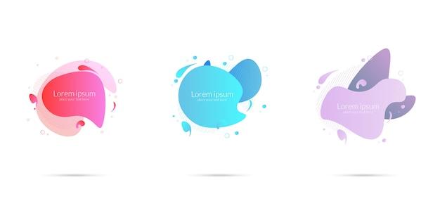 Set di elementi grafici moderni astratti