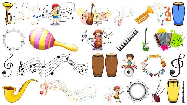 Set di elementi musicali