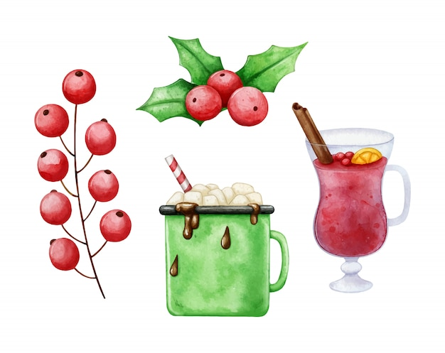 Set di elementi natalizi