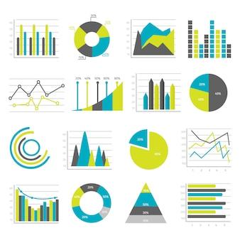 Set di elementi piatti grafici