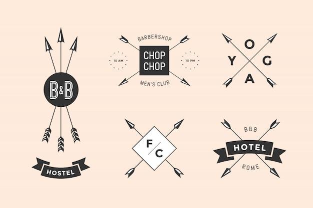 Set di emblema ed etichetta