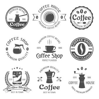 Set di emblemi di caffè