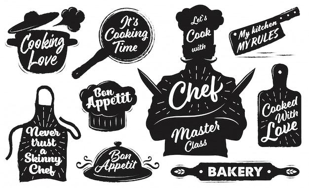 Set di emblemi di cucina