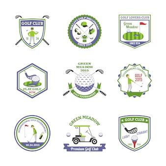 Set di emblemi di golf