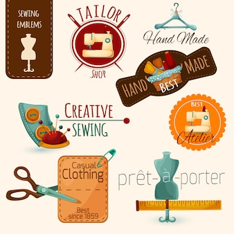 Set di emblemi per cucire