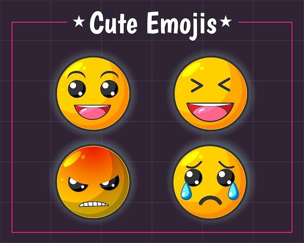 Set di emoji divertente e carino