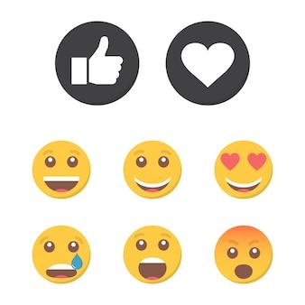 Set di emoticon e simili.