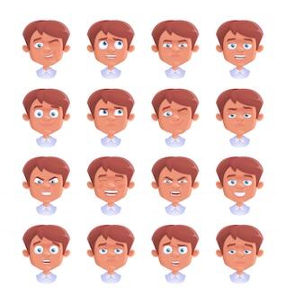 Set di emozione ragazzo
