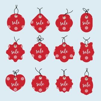 Set di etichetta di natale e tag background.christmas. segno e simbolo.