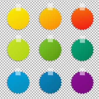 Set di etichette a colori