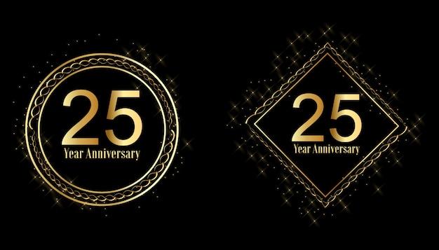 Set di etichette celebrazione anniversario d'oro